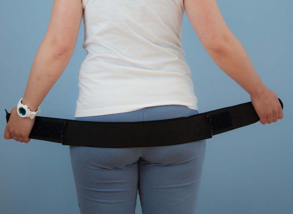 Colocación cinturón pélvico posparto